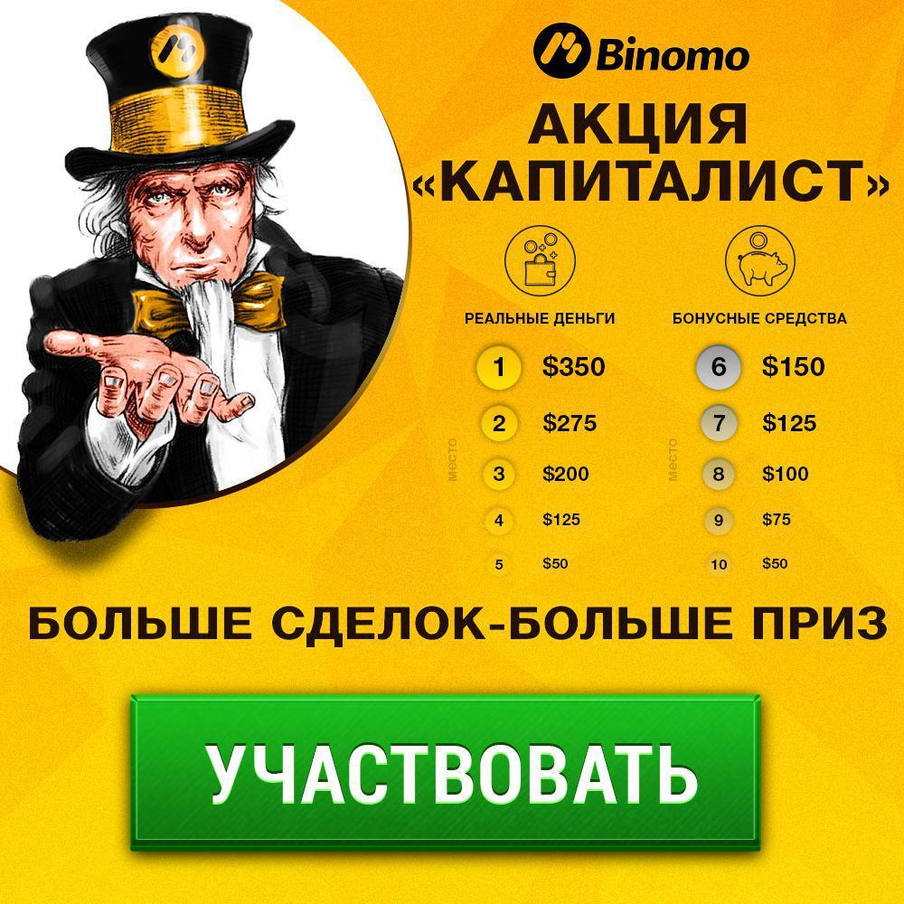Акция «Капиталист» от Binomo